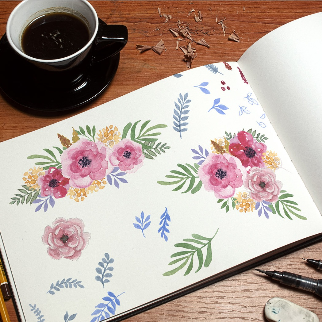 Floral illustrations come to life