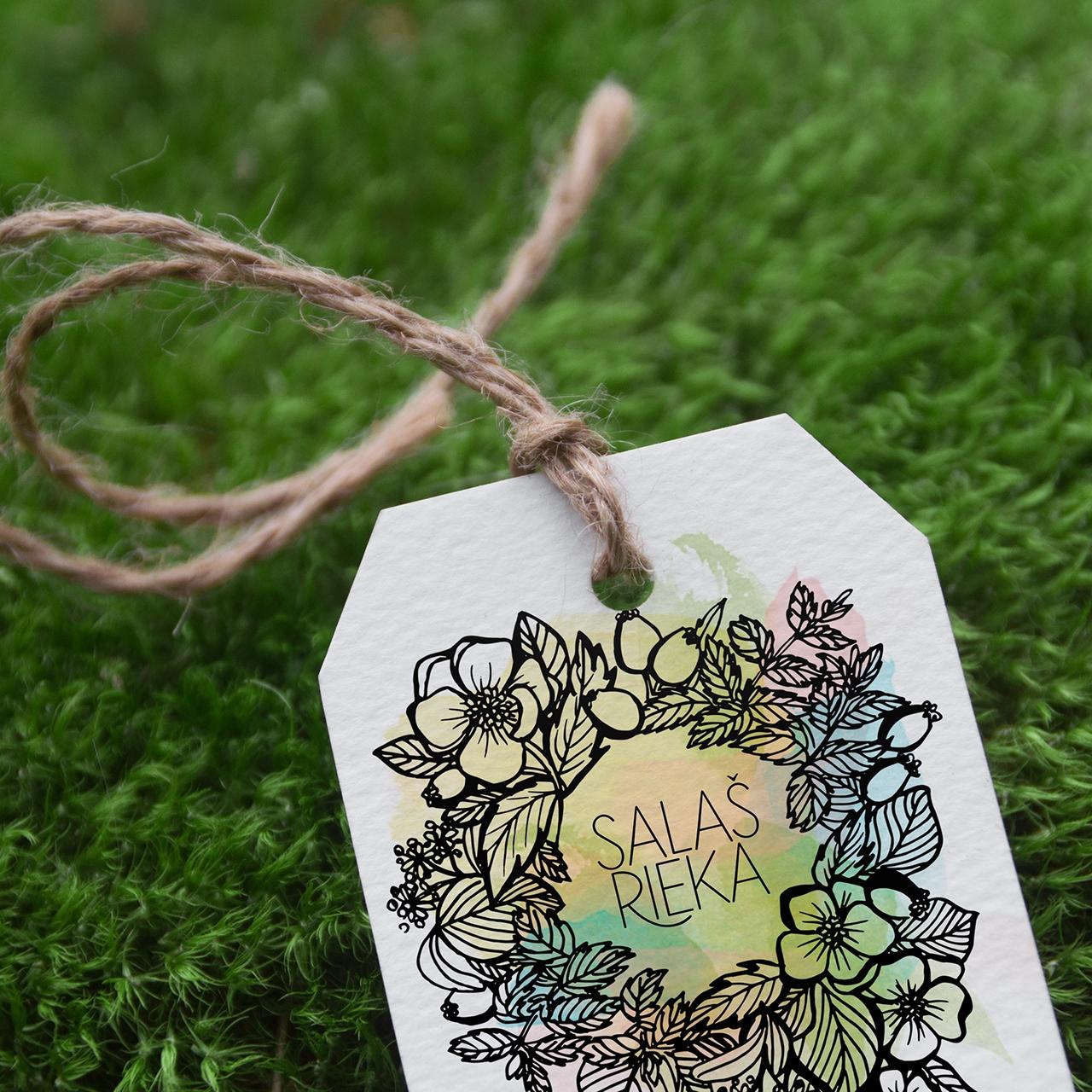 Salaš Rieka logo design and paper tags