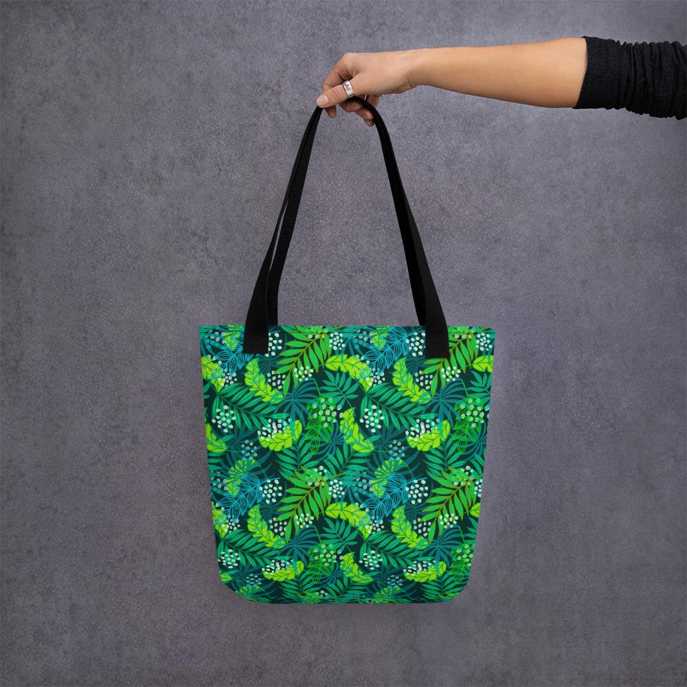 Forest patterned art bag