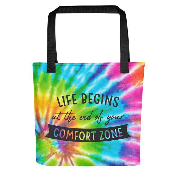 Rainbow tie dye style art bag