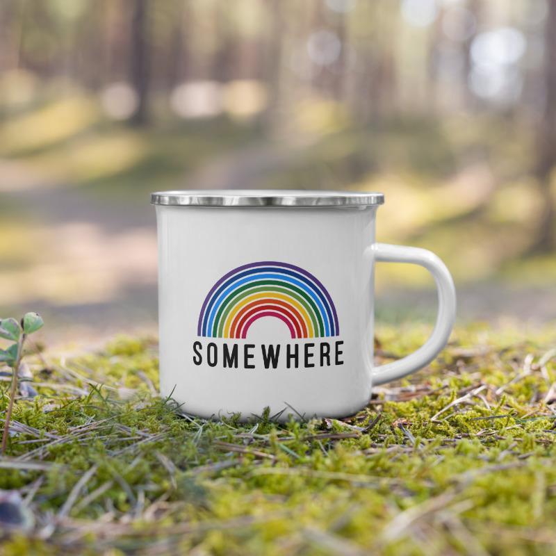 Somewhere over the rainbow (enamelled mug)