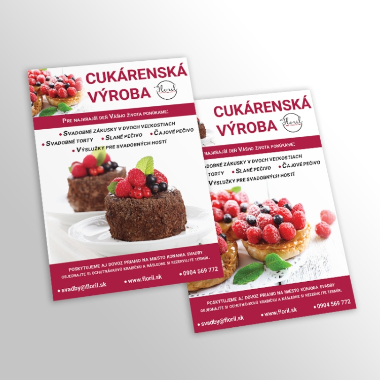 A5 flyers for Bakery Floril
